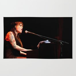 Musician Beth Hart on the Piano Rug
