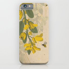 Yellow Bees iPhone Case
