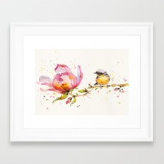 Magnolia & Buddy Framed Art Print