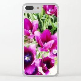 Tulips of Abbotsford Clear iPhone Case