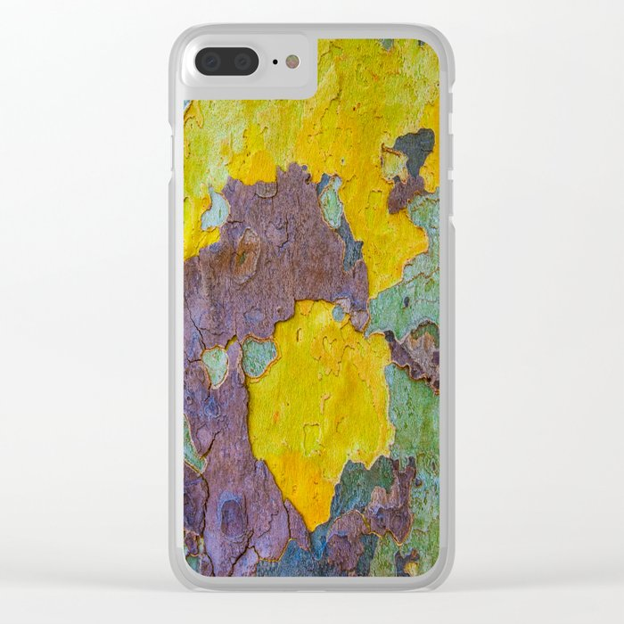 Face of Tree Clear iPhone Case