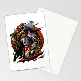 Samurai Viking | Warrior Ronin Berserk Armor Axe Stationery Cards