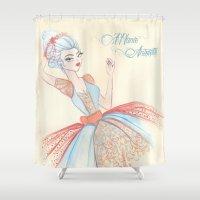 marie antoinette Shower Curtains featuring Marie Antoinette by carotoki