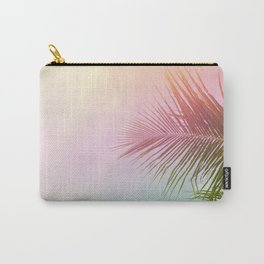 Pink Palm Leaf Poster Carry-All Pouch