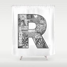 Cutout Letter R Shower Curtain