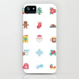 CUTE CHRISTMAS HOLIDAYS WINTER PATTERN iPhone Case