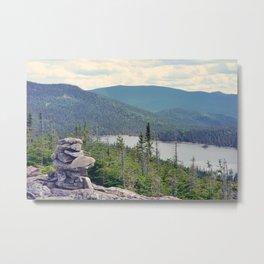 inukshuk - Parc National de la Gaspésie (Québec, Canada) Metal Print