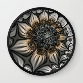 Noblesse, Modern Abstract Fractal Art Wall Clock