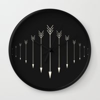 arrow Wall Clocks featuring Arrow by Anderbear