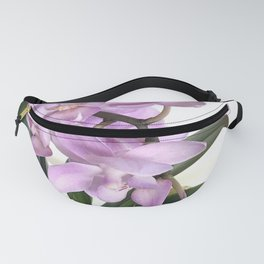 Pink orchid in bloom with green foliage  Fanny Pack