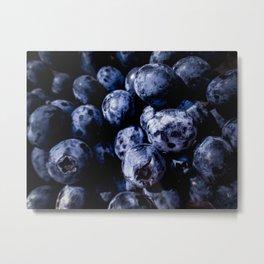 Bold Blueberries Metal Print