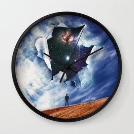 Broken Sky Wall Clock