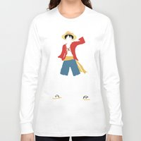 luffy Long Sleeve T-shirts featuring Monkey D Luffy by JHTY