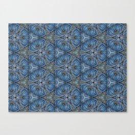 swirl blue pattern Canvas Print