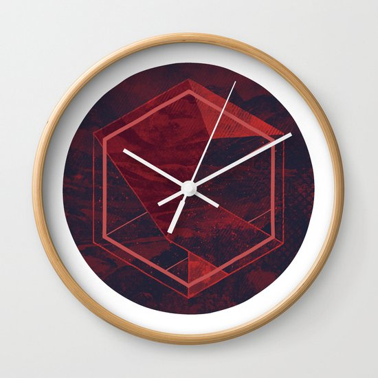 Thinking of a Foreign Girl Wall Clock