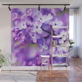 Watercolor Lilac Blossoms Wall Mural
