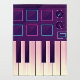 Neon MIDI Controller Poster
