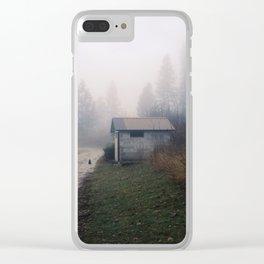 Barn Cat Clear iPhone Case