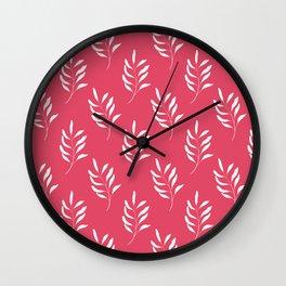 HOT PINK FLORAL Wall Clock