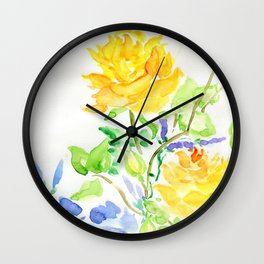 Where The Morning Glory Twineth Wall Clock