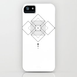 Square Geometry white iPhone Case