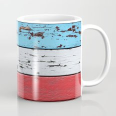 Multicolored Wooden Planks Mug