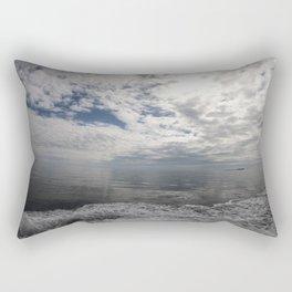 Clouds and sea serenity Rectangular Pillow