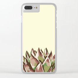 Sunshine Rosette - Yellow Wax Agave Succulent Clear iPhone Case