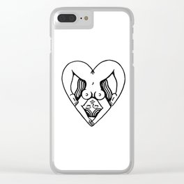 Body Heart Clear iPhone Case
