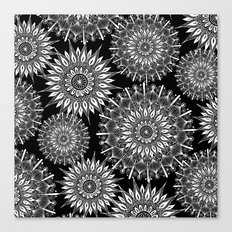 Mandala Negative Canvas Print