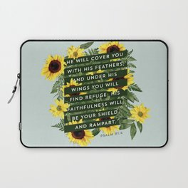 He Will Cover You Laptop Sleeve