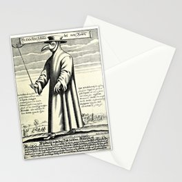 Dr. Beak - a plague doctor in 17th-century Rome Stationery Cards