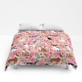 Chihuahua floral dog breed cute pet gifts for chiwawa lovers chihuahuas owners Comforters