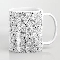 Butterflies Black on White Mug
