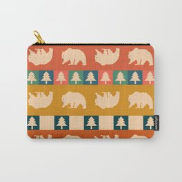 Multicolored bear pattern Carry-All Pouch