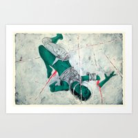 Bodies in Space: Micrometeoroids Art Print