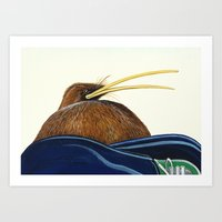 Kiwi on Sammy's lap Art Print