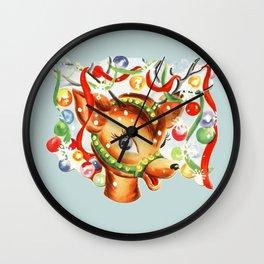 Retro Reindeer Wall Clock