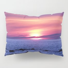 Surreal Sunset on the Sea Pillow Sham
