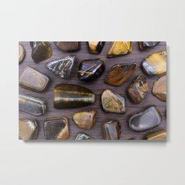 Tiger's Eye Stones Metal Print