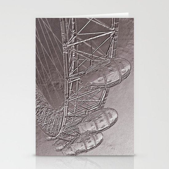 Embossed London Eye Stationery Cards