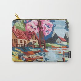 Cross stitch River Carry-All Pouch