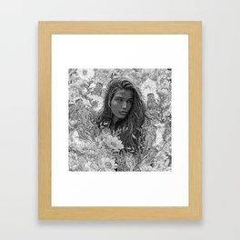 La fleur de la musique Framed Art Print