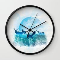 twilight Wall Clocks featuring Twilight by Lynette Sherrard Illustration and Design
