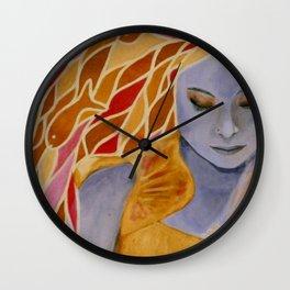 intermediate world - autumn Wall Clock