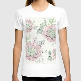 Pink Echeveria Light Green #society6 #buyart T-shirt