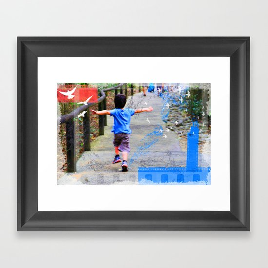 learning to fly 02 Framed Art Print