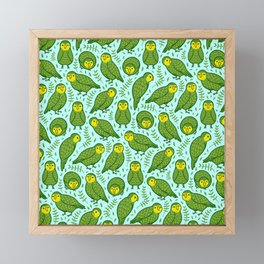 Kakapo Pattern Framed Mini Art Print