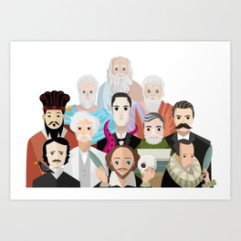 great philosophers and writers from all times Art Print
