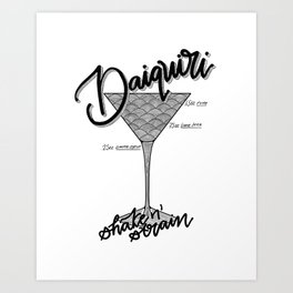 Daiquiri Art Print